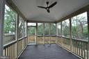 OPTIONAL ENCLOSED PORCH - 15 BELMONT CT, SILVER SPRING