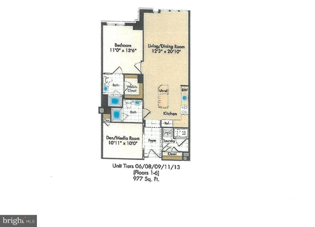 Floor Plan - 4301 MILITARY RD NW #611, WASHINGTON