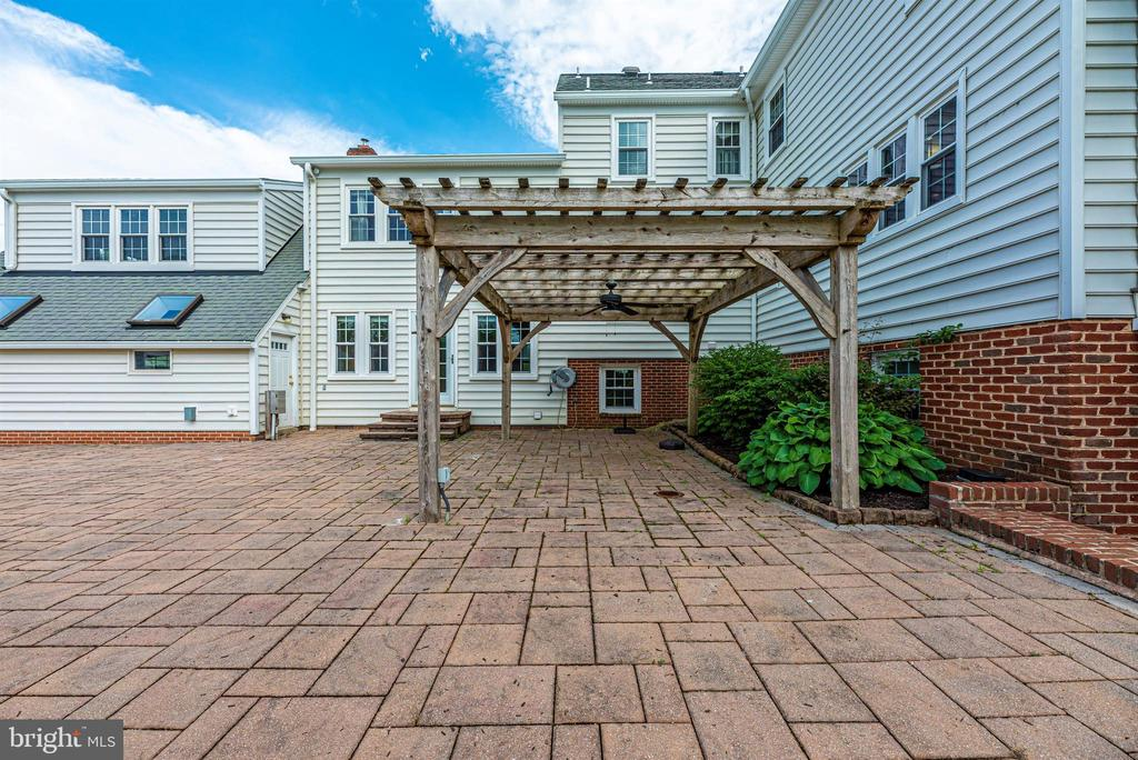 Rear Patio with Arbor - 3842 MOUNT AIRY DR, MOUNT AIRY