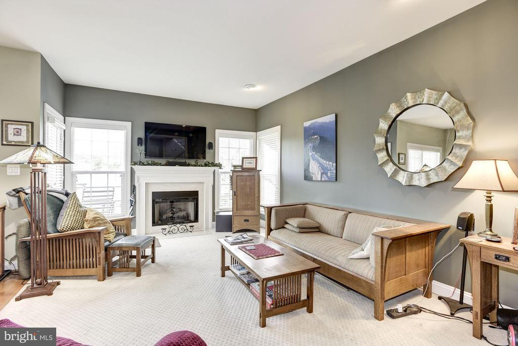 Family Room with Cozy Fireplace - 20077 INVERNESS SQ, ASHBURN