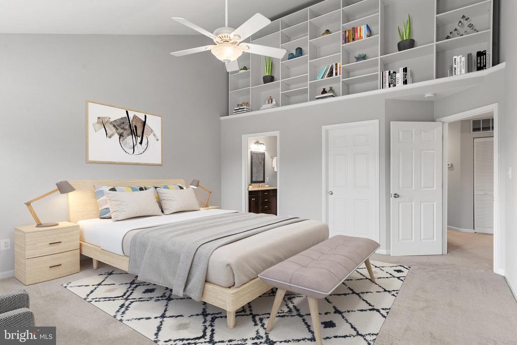 Master Bedroom - Virtually Staged - 12075 TRUMBULL WAY, RESTON