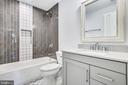 Third level full bath. Fabulous tile design. - 705 N BARTON ST, ARLINGTON