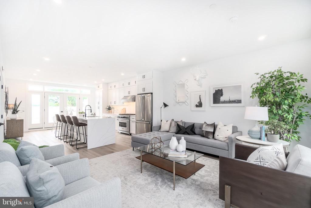 Bright open floor plan - 432 MANOR PL NW #2, WASHINGTON