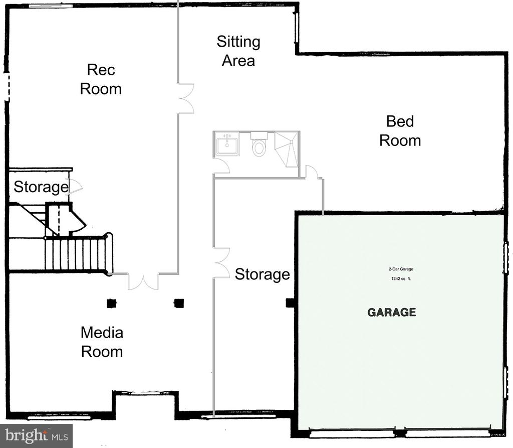 Basement layout - 46929 SENECA RIDGE DR, STERLING