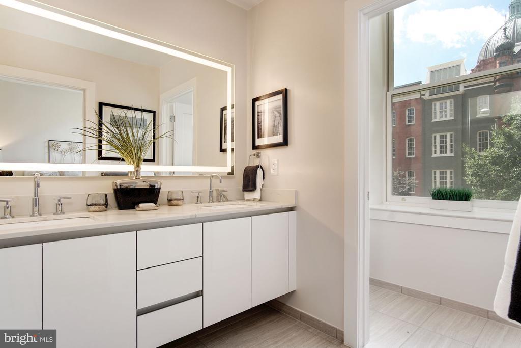 Dual vanity, luxury bath - 1745 N ST NW #211, WASHINGTON