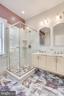Master Bathroom with gleaming Italian marble tile - 1504 IRVING ST NE, WASHINGTON