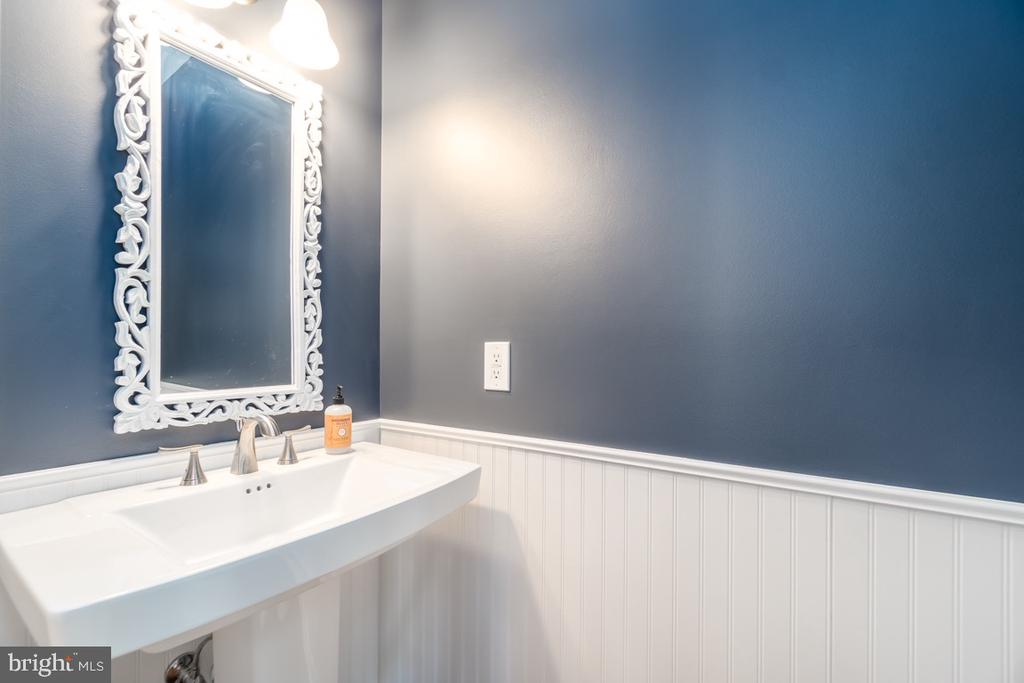 Powder Room with Wainscoting - 43309 ATHERTON ST, ASHBURN