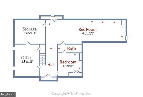 Lower Level Floorplan - 2877 FRANKLIN OAKS DR, HERNDON