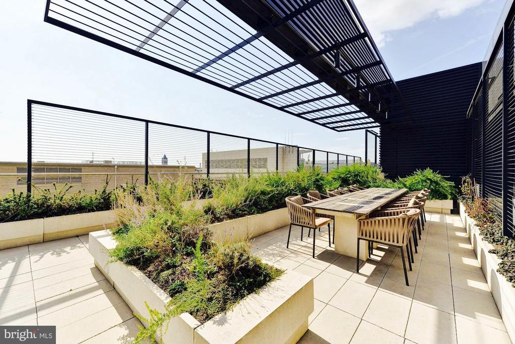 Rooftop with Grills and Dining Tables - 925 H ST NW #301, WASHINGTON