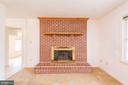 Wood Burning Fireplace Brick Hearth - 3326 CARLISLE DR, KNOXVILLE
