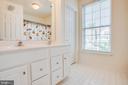 Hallway Bathroom w/ Dual Vanity Sink - 1847 CEDAR COVE WAY #201, WOODBRIDGE