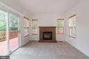 Sunroom with Gas Fireplace and  Deck Access - 13433 CATAPULT LN, BRISTOW