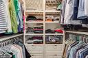 Owner's  Closet with Custom Built Ins - 43047 STUARTS GLEN TER #116, ASHBURN