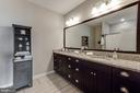 Owner's Bath with upgraded cabinets - 43047 STUARTS GLEN TER #116, ASHBURN