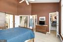 Master bedroom features vaulted ceilings - 1330 N ADAMS CT, ARLINGTON