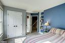 3rd floor 2nd bedroom features built in bookcase - 1330 N ADAMS CT, ARLINGTON