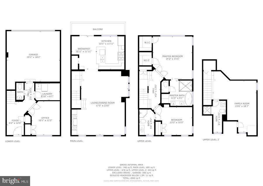 Full floor plan - 1330 N ADAMS CT, ARLINGTON