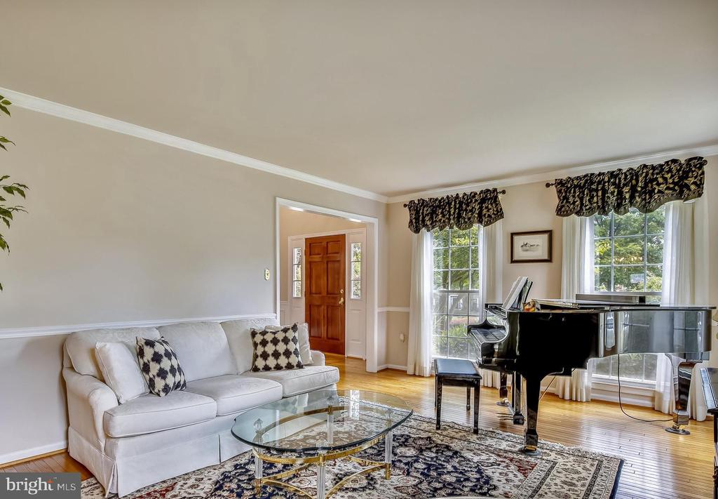 Plenty of windows and light in the living room. - 2877 FRANKLIN OAKS DR, HERNDON