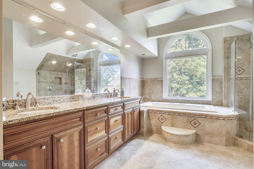 Renovated Master with Soaking Tub, Dual Vanities - 2877 FRANKLIN OAKS DR, HERNDON