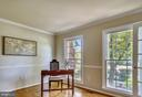 Main Level Library with En Suite Powder Room. - 2877 FRANKLIN OAKS DR, HERNDON