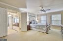 Master Suite with Dual Closets. - 2877 FRANKLIN OAKS DR, HERNDON