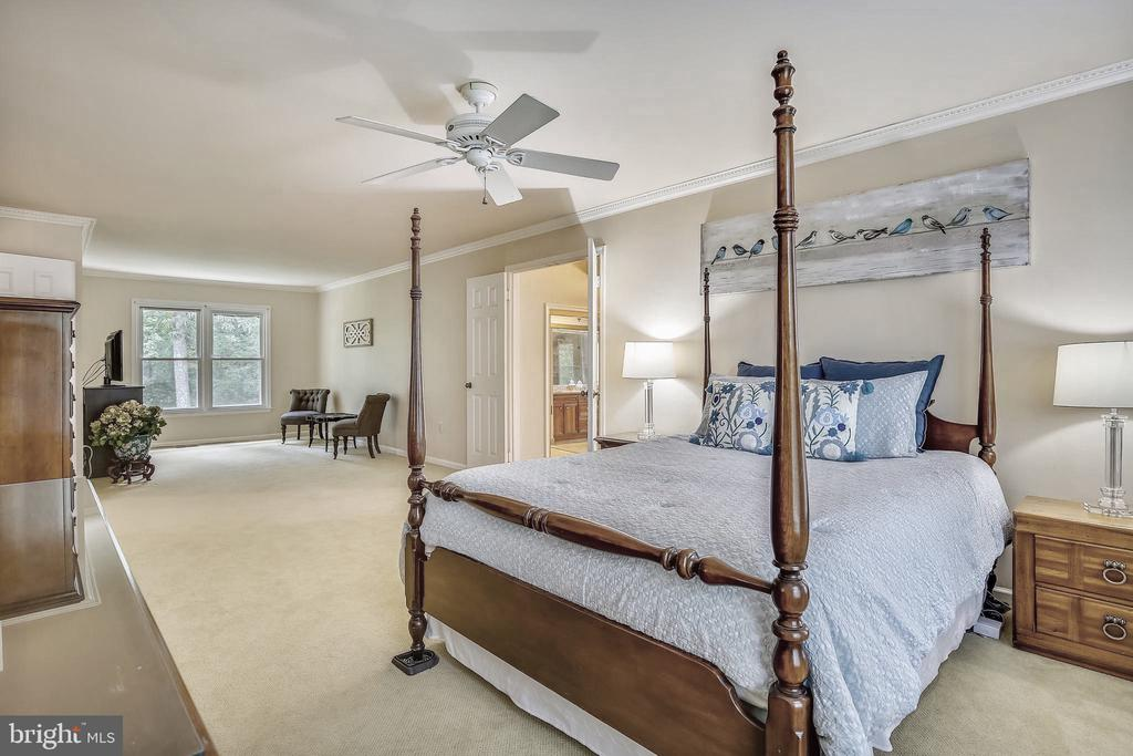 Master Bedroom with Seating Area. - 2877 FRANKLIN OAKS DR, HERNDON