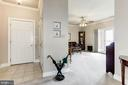 The entry foyer brings you to the living room - 117 EASY ST #31, THURMONT