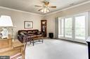 Family room with wall of glass doors to patio - 117 EASY ST #31, THURMONT