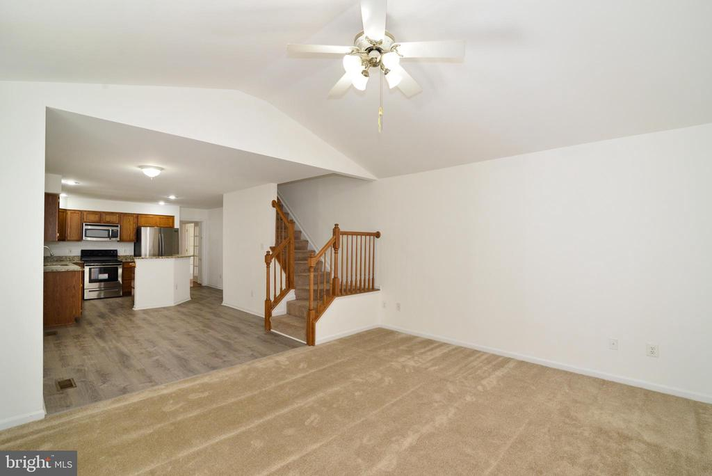 View from Living room toward kitchen area - 9306 KEVIN CT, MANASSAS PARK