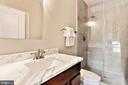 second bathroom offers oversized shower and vanity - 3401 N KENSINGTON ST, ARLINGTON