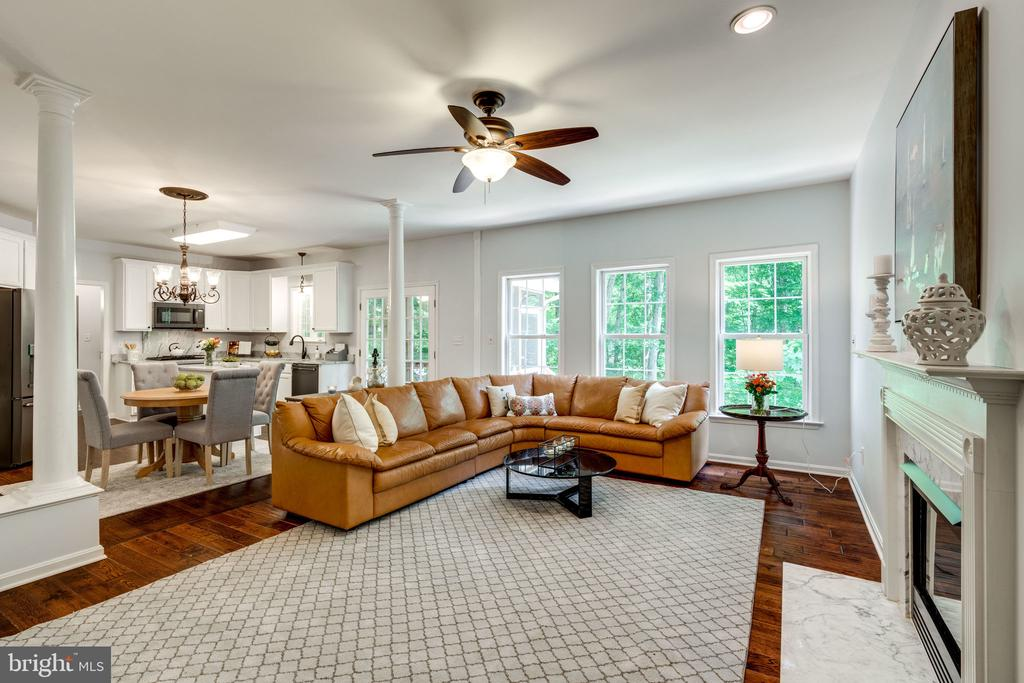 Family Room with Great View of Nature - 29 DERRICK LN, STAFFORD