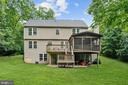 Backyard is surrounded by trees on 3 sides - 20311 BROAD RUN DR, STERLING