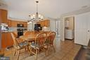 Spacious eating area in the kitchen - 20311 BROAD RUN DR, STERLING