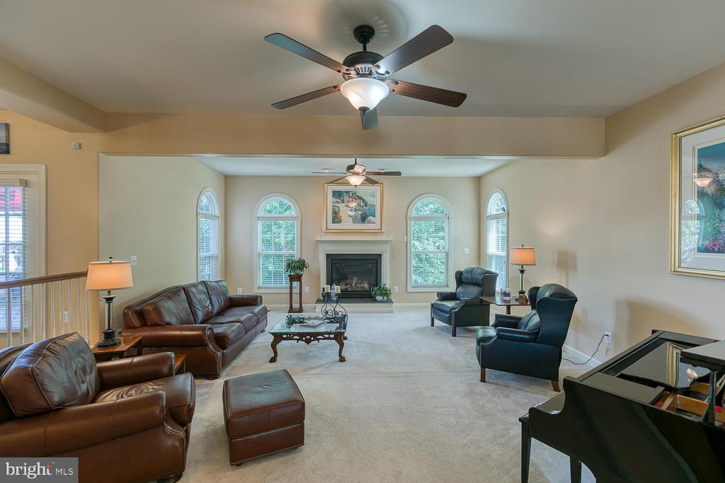 Expansive Step Down Family Room w/ Gas Fireplace - 6 MOUNT ARARAT LN, STAFFORD