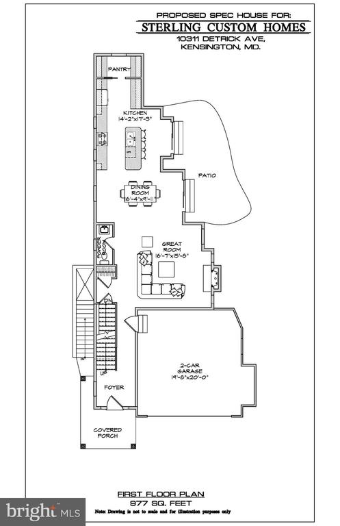 MAIN LEVEL FLOOR PLAN - 15 BELMONT CT, SILVER SPRING