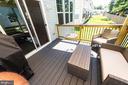 Covered Porch/ Deck off the Kitchen - 4 WELLSPRING DR, FREDERICKSBURG