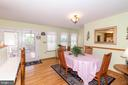 DINING AREA - 390 NANSFIELD DR, HARPERS FERRY