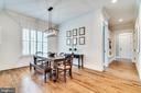 Eat in kitchen & hallway to garage - 8720 PLYMOUTH RD, ALEXANDRIA