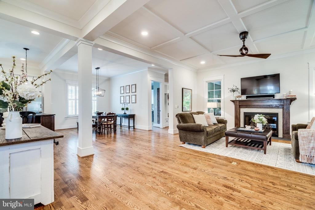 Coffered ceiling in the Great Room - 8720 PLYMOUTH RD, ALEXANDRIA