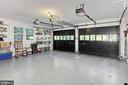 GARAGE WITH SHELVING - 11800 LAKEWOOD LN, FAIRFAX STATION