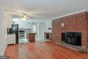 Beautiful Brick Fireplace in Family Room - 7820 WOODRIDGE DR, GAINESVILLE