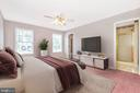 Staged Master Bedroom - 123 BENNETT DR, THURMONT