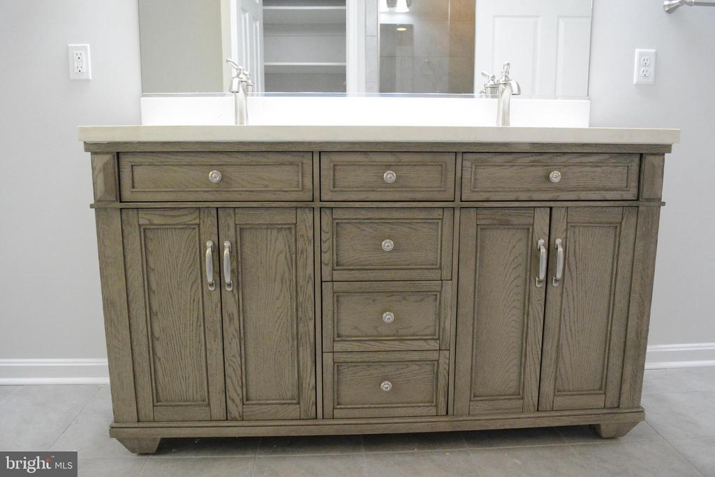 Gorgeous vanity in  master bath - 111 APPLEVIEW CT, LOCUST GROVE