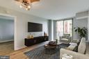 Virtually staged LR - 1000 NEW JERSEY AVE SE #202, WASHINGTON