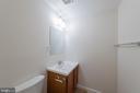 Powder Room in Basement - 10227 QUIET POND TER, BURKE