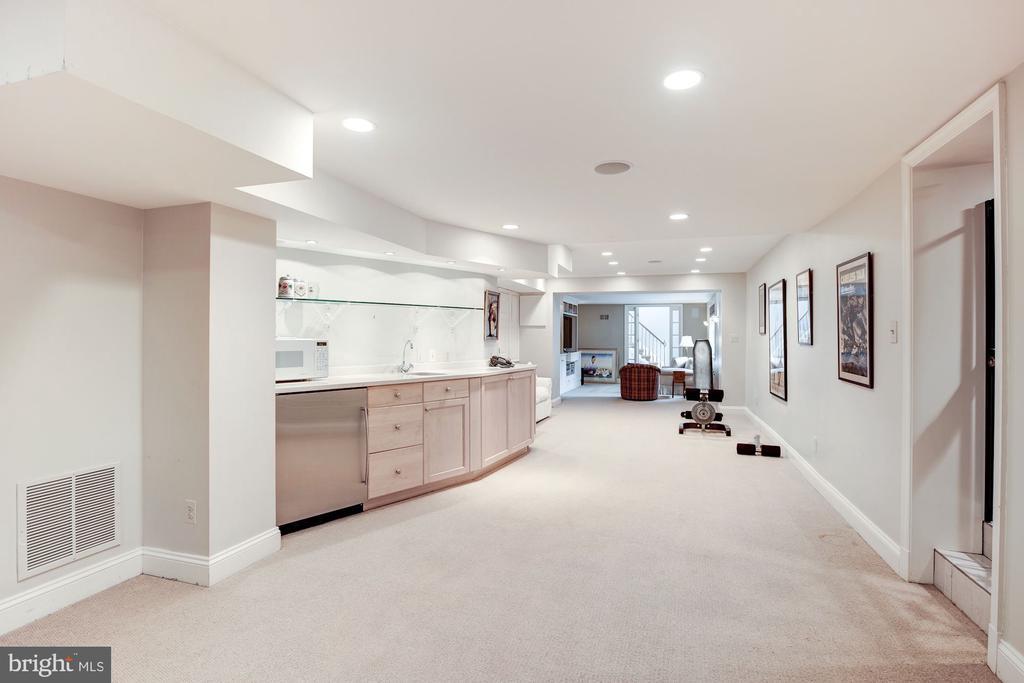 Lower Level w/ Kitchenette, Wine Storage and Bath - 5212 UPTON TER NW, WASHINGTON