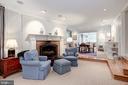 Family Room with Wood Burning Fireplace - 5212 UPTON TER NW, WASHINGTON