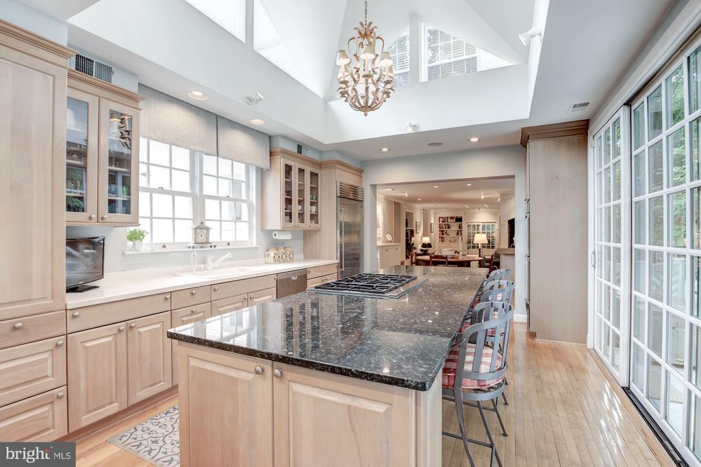 Kitchen opens to expansive Deck - 5212 UPTON TER NW, WASHINGTON