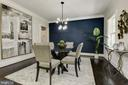 Dining room with custom accent wall - 8609 SEVEN LOCKS RD, BETHESDA