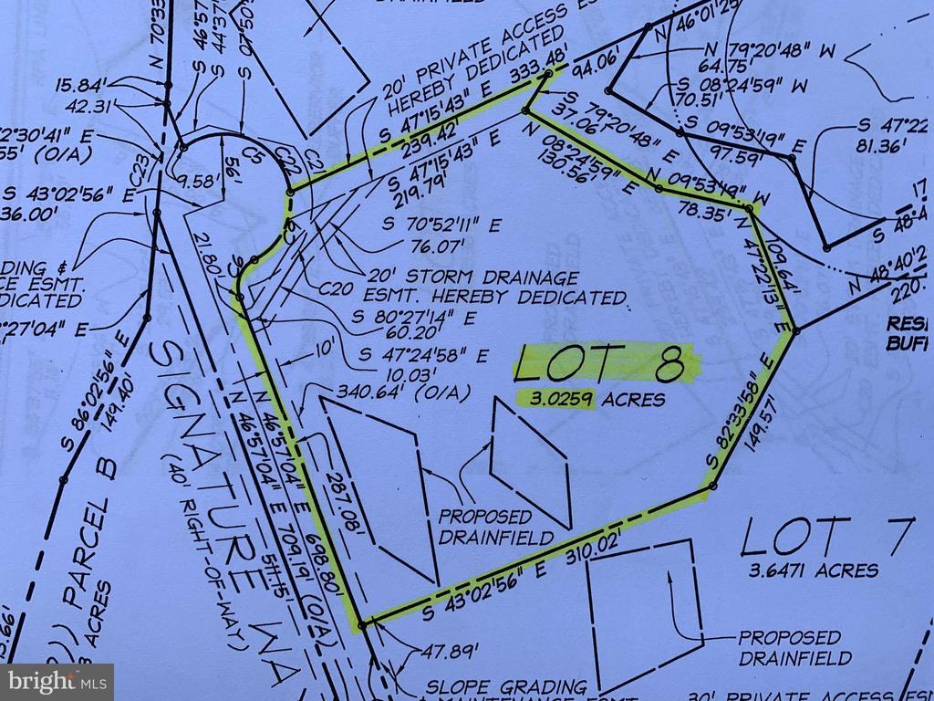 Site Plan for Lot 8 - 9406 Signature Way - 9406 SIGNATURE WAY, FREDERICKSBURG